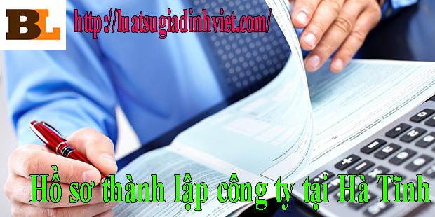 Hồ sơ thành lập công ty tại Hà Tĩnh