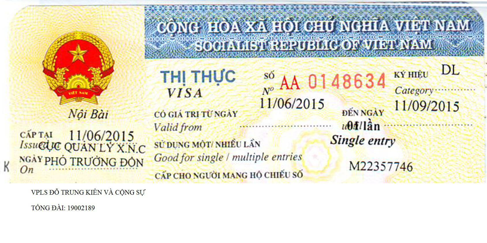 Visa ở sân bay Tân Sơn Nhất